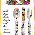 Family Love Recipes Poster by Anahi DeCanio