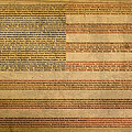 Famous Patriotic Quotes American Flag Word Art Print by Design Turnpike