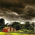 Farm - Barn - Storms a comin Print by Mike Savad
