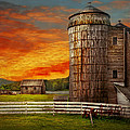 Farm - Barn - Welcome to the farm  Print by Mike Savad