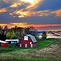 Farmstead at Sunset Print by Julie Dant