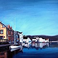 Farsund Dock Scene I Poster by Janet King
