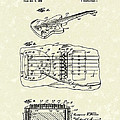 Fender Floating Tremolo 1961 Patent Art Poster by Prior Art Design