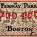 Fenway Park Boston Redsox Sign Print by Bill Cannon