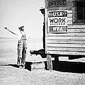 Field office of the WPA Government Agency Poster by American Photographer