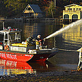 Fire Boat Poster by Susan Leggett