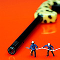 Fire fighters and fire gun little people big worlds Print by Paul Ge