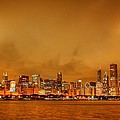 Fire in a Chicago Night Sky Print by Ken Smith