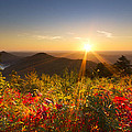 Fire on the Mountain Print by Debra and Dave Vanderlaan
