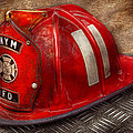 Fireman - Hat - A childhood dream Print by Mike Savad