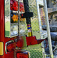 Fireman keep back 300 feet Poster by Paul Ward