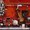 Fireman - Old Fashioned Controls Print by Mike Savad