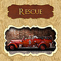 Fireman - Rescue - Police Print by Mike Savad