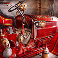 Fireman - Truck - Waiting for a call Print by Mike Savad