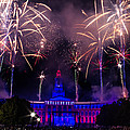 Fireworks Over Denver City and County Building Poster by Teri Virbickis