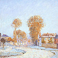 First Frost Print by Alfred Sisley