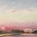 First Inaugural Sunset 20 January 2009 Poster by William Van Doren