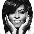 First Lady - Michelle Print by Wayne Pascall