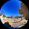 Fish Eye View of Coolidge Park Print by Tom and Pat Cory
