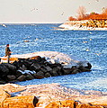 Fishermans Cove Poster by Frozen in Time Fine Art Photography