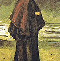 Fishermans Wife On The Beach Poster by Vincent Van Gogh