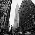 fisheye shot View of the empire state building from West 34th Street and Broadway new york usa Print by Joe Fox