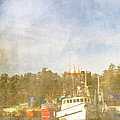 Fishing Boats Newport Oregon Poster by Carol Leigh
