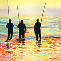 Fishing Line Poster by Marguerite Chadwick-Juner