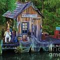 Fishing on the Bayou Print by Lee Dos Santos