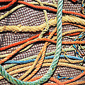 Fishing Ropes and Net Print by Carlos Caetano