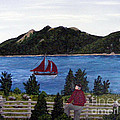 Fishing Schooner Print by Barbara Griffin