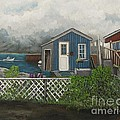 Fishing Shacks Alaska Poster by Reb Frost
