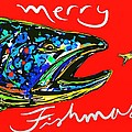 Fishmas Trout Poster by Owl Jones
