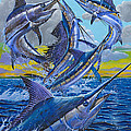 Five Billfish Off00136 Poster by Carey Chen