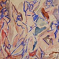 Five Nudes Study Print by PG REPRODUCTIONS