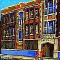 FLASHBACK TO SIXTIES MONTREAL MEMORIES BARON BYNG HIGH SCHOOL VINTAGE LANDMARK ST. URBAIN CITY SCENE Poster by CAROLE SPANDAU