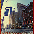 Flat Iron Building Poster Print by Nishanth Gopinathan