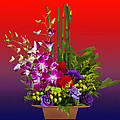 Floral Arrangement Print by Chuck Staley