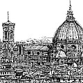 Florence Duomo in ink  Print by Lee-Ann Adendorff
