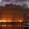 Florida Power and Lightning Print by Lynda Dawson-Youngclaus