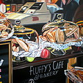 Fluffy's Cafe Poster by Anthony Mezza