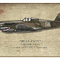 Flying Tiger P-40 Warhawk - Map Background Poster by Craig Tinder