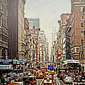 Foggy Day In The City Print by Kathy Jennings