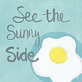 Food- Kitchen Art- Eggs- Sunny Side Up Poster by Linda Woods