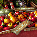 Food - Vegetables - Sweet peppers for sale Print by Mike Savad