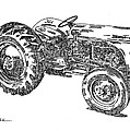 Ford 8N Tractor Poster by Ken Nickle