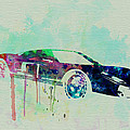 Ford GT Watercolor 2 Print by Irina  March