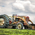 Ford PowerMaster Tractor on a Hill Poster by Gary Heller