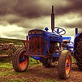 Fordson Super Dexta Tractor On Shetland Croft Poster by Anne Macdonald
