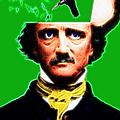 Forevermore - Edgar Allan Poe - Green - With Text Poster by Wingsdomain Art and Photography